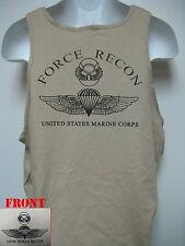 USMC FORCE RECON TANK TOP/ tan/ #1/ MARINES/ MILITARY/   NEW