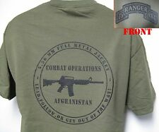 75th RANGER RGT T-SHIRT/ MILITARY/ AFGHANISTAN COMBAT OPS/ ARMY/ NEW