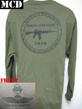 USMC RECON LONG SLEEVE T-SHIRT/ MCD/ IRAQ COMBAT OPERATIONS T-SHIRT/ M-4/   NEW