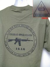 1ST ARMORED DIVISION T-SHIRT/ IRAQ COMBAT OPS/ MILITARY T-SHIRT/ ARMY/  NEW