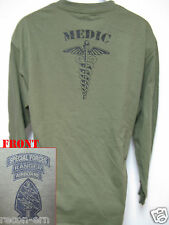SPECIAL FORCES AIRBORNE RANGER MEDIC LONG SLEEVE T-SHIRT/  NEW