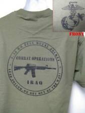 USMC T-SHIRT/ IRAQ COMBAT OPERATIONS T-SHIRT/ NEW