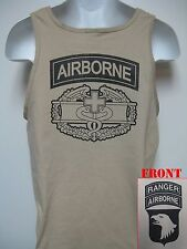 10ST AIRBORNE RANGER COMBAT MEDIC BADGE TANK TOP/ MILITARY/ NEW/ ARMY T-SHIRT