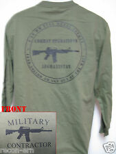PRIVATE MILITARY CONTRACTOR LONG SLEEVE T-SHIRT/  AFGHANISTAN COMBAT OPS/ NEW
