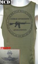 USMC RECON TANK TOP/ MCD/ OD/ AFGHANISTAN COMBAT OPS/ MARINES / MILITARY/ NEW