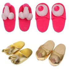 Hen Party Gift Willy Penis Boob Boobie Slipper Fancy Dress Adult Shoes Accessory