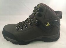 Golden Retriever Steel Safety Toe Brown Leather Hiker 7385