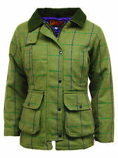 Game Ladies Tweed Hunting Shooting Jacket 60% Wool- Purple Lining