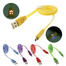 LED Light Micro USB Data Sync Charger Charging Cable For Samsung Galaxy Phones