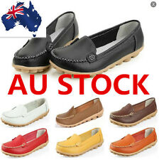 Womens Soft Casual Oxfords Flats Shoes Leather Ballet Loafers Soft Shoes AU