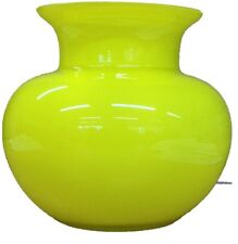 Alicija Round Yellow Glass Flower Vase With Wide Neck