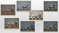 1:12 scale dolls house miniature pretty tea set 7 to choose from .