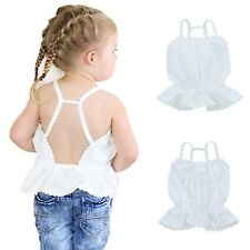 Toddler Girl Princess Ruffle Shirt Baby Backless Party Pageant Summer Beach Tops