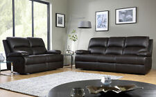 NEWBURY Brown Leather Recliner Reclining Sofa Sofas Couch Suite Suites Range