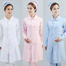 New Womens Fashion Pro White Lab Coat Nurse Scrub Medical Doctor's Jacket
