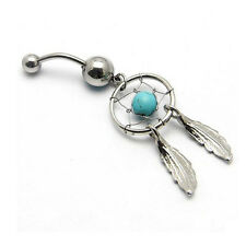 Gem Bar Dangle Fashion Barbell Body Piercing Belly Button  Navel Ring Jewelry