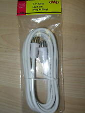 TV Aerial lead 2m plug to plug