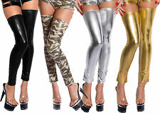 LEGGINGS WOMAN SEXY TOP CLUBWEAR GOGO DANCE T.U. 34/36/38