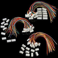 10 Sets Micro JST 2.5 XH 2Pin 8Pin 9P 10P Connector Plug Male with Wire Cables