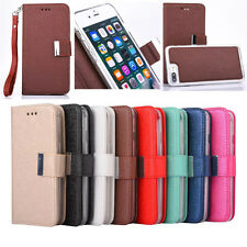 Leather Magnetic Removable Wallet Flip Card Case Cover For iPhone 6 6s 7 Plus
