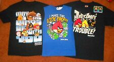 ANGRY BIRDS T-SHIRTS BOYS SIZES 8-18, BRAND NEW. FREE SHIPPING!