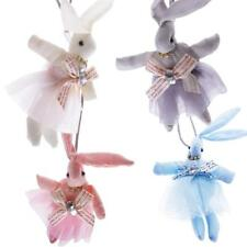 Cute Rabbit Bunny Pendant Necklace Handmade Long Rope Chain Kid Girls Easter