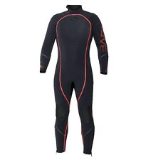 Bare 7mm Reactive Full Jumpsuit Wetsuit Mens Scuba Diving Dive Suit Black/Red