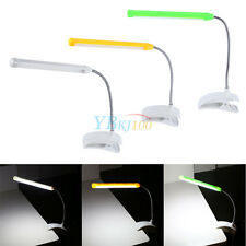 Flexible Clip-on Table Lamp LED Clamp Reading/Study/Bed/Desk Light With Switch