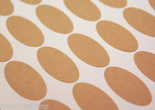 KRAFT brown paper adhesive OVAL blank craft labels DIY business label stickers