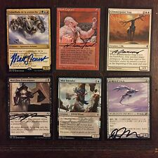Lot of Autographed Magic: The Gathering Cards - MTG