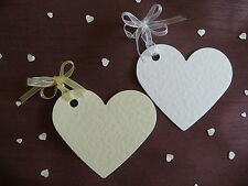 100 BEAUTIFUL HEART PLACECARDS/WISHING TREE /FAVOUR TAGS WITH OR WITHOUT RIBBON
