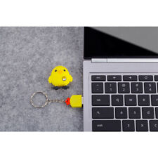 USB2.0 Flash Pen Drive 3D Yellow Chicken Shape Memory Stick Keychain
