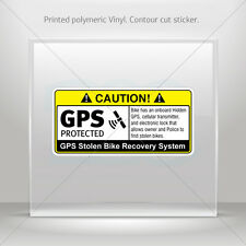 Decals Decal Gps Protected Prevention Sign Bike Vehicle st5 X4XRX