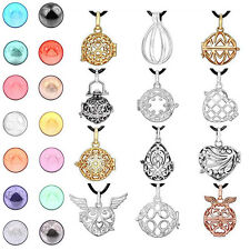 Silver Gold Lockets Pendant Angel Caller Harmony Ball Cage Pendant Necklace DIY