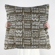 NEW Collective Sol Tribal Cushion Outdoor Handmade Cotton Brown Latte