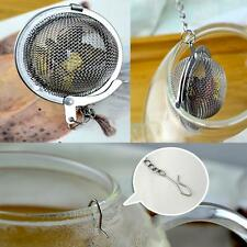 Practical Hooking Stainless Steel  Strainer Chain Ball Tea Infuser Filter