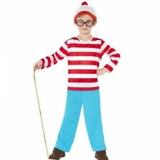 Official Wheres Wally Boys fancy dress costume Book Week outfit unisex Stripes