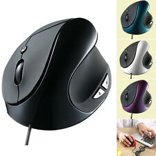 Black 6D USB Wired Ergonomic Design Vertical Optical Mouse Mice For PC Laptop