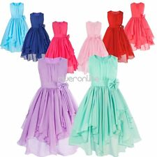 Flower Girls Princess Pageant Wedding Bridesmaid Party Formal Chiffon Tutu Dress