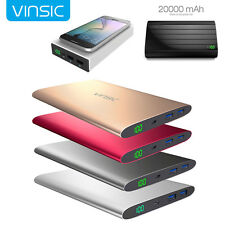 Vinsic Power Bank 20000mAh External Battery Charger Dual USB Charger XB