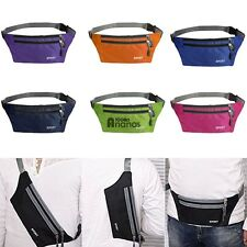 Waterproof Running Belt Bum Waist Pouch Fanny Pack Camping Sport Hiking Zip AN18