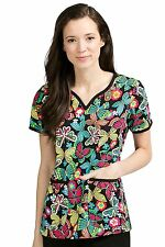 Women's Med Couture Natasha Print Top Scrub Top
