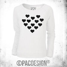 SWEATSHIRT WOMAN CHIC NERD NERDY FASHION POLKA DOT HEART BLACK WHY SO VINTAGE
