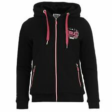 Everlast Fur Lined Full Zip Hoody Womens Black Hoodie Jacket Top Sportswear