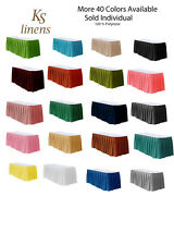 Table Skirt 14' Polyester for table 4 feet . Multiple color Available