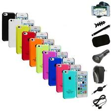 For iPhone 5C Crystal Hard Snap-On Ultra Thin Back Case Cover+8X Accessory