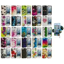 Flower Hard Rubberized Case Cover+Windshield Mount for iPod Touch 5th Gen 5G