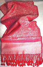Ladies Hot Fashion Pink Tone on Tone Paisley Scarf Breast Cancer Awareness  (S3)