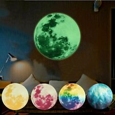 Home Decor Kids Room Luminous Moon Earth Wall Glow In Stickers The Dark Mural