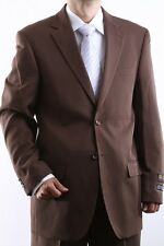 MENS TWO BUTTON SUPERIOR 100 COCOA DRESS SUIT, SML-60212S-60227-COC